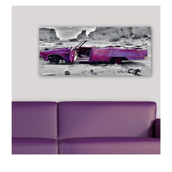 Dekoratívny nástenný panel Auto v púšti, 115x50 cm