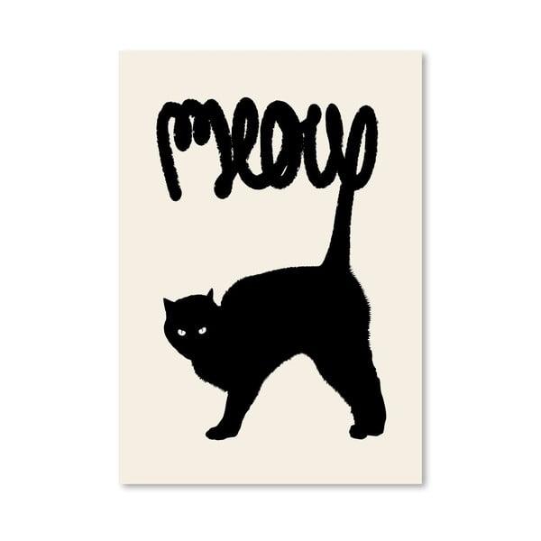 Plagát Meow od Florenta Bodart, 30x42 cm