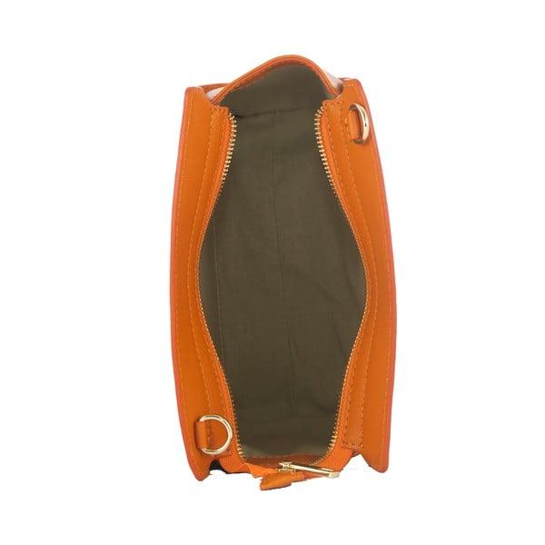 Oranžová kabelka z pravej kože Andrea Cardone Mattia