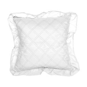 Biela obliečka na vankúš Slowdeco Ruff, 40×40 cm