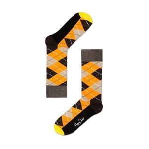 Ponožky Happy Socks Mustard and Grey, veľ. 36-40