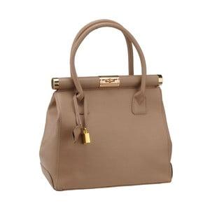 Béžová kožená kabelka Florence Abete