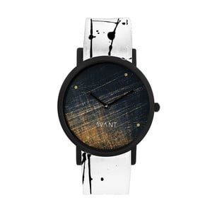Unisex hodinky s bielo-čiernym remienkom South Lane Stockholm Avant Noir