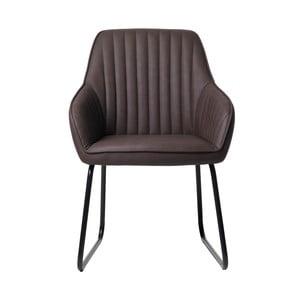 Kávovohnedá čalúnená jedálenská stolička Unique Furniture Brooks