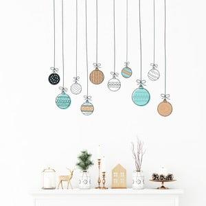 Nástenná samolepka Ambiance Christmas Balls, 40 x 40 cm