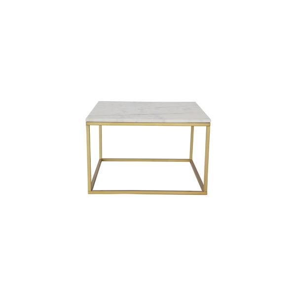 Mramorový odkladací stolík s mosadznou konštrukciou RGE Accent, 75x75cm
