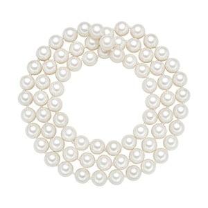 Perlový náhrdelník Muschel, biele perly 10 mm, dĺžka 80 cm