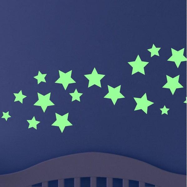 Svietiaca samolepka Ambiance Fanastick Simple Stars