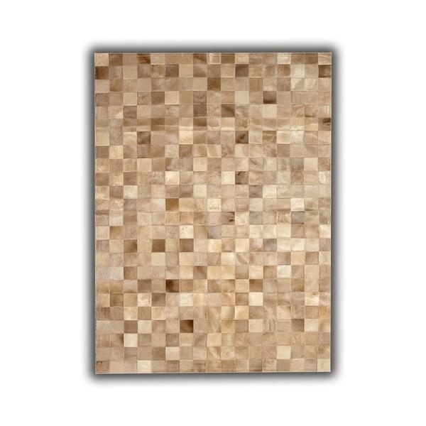 Koberec z pravej kože Beige Tones, 140x200 cm