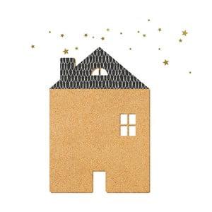 Dekoratívne samolepiace nástenka Dekornik Black House With Stars