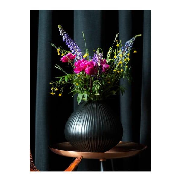 Čierna váza Fuhrhome Oslo, Ø30cm