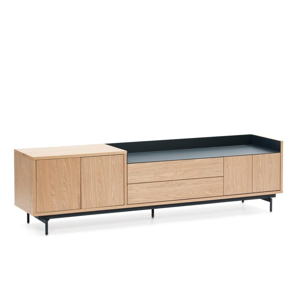 Svetlý hnedo-modrý televízny stolík Teulat Valley