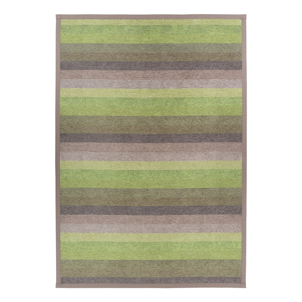 Zelený obojstranný koberec Narma Luke Green, 100 x 160 cm