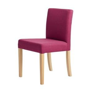 Fuchsiovoružová stolička s prírodnými nohami Custom Form Wilton