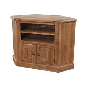Rohový TV stolík z dubového dreva VIDA Living Danube