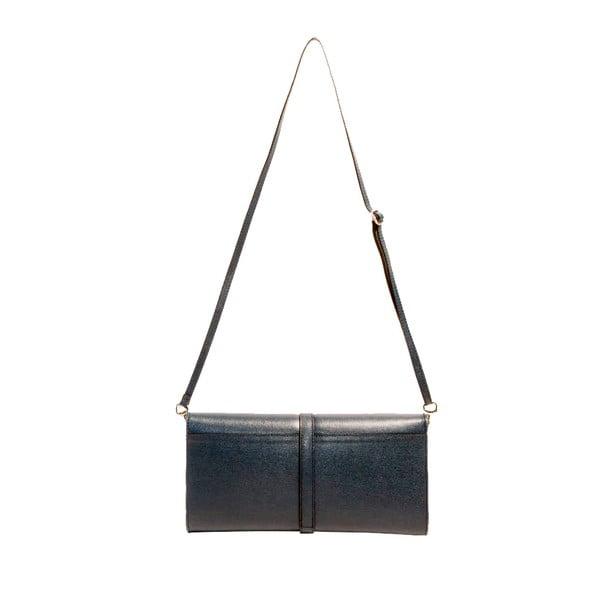 Tmavomodrá kožená kabelka Andrea Cardone 1010