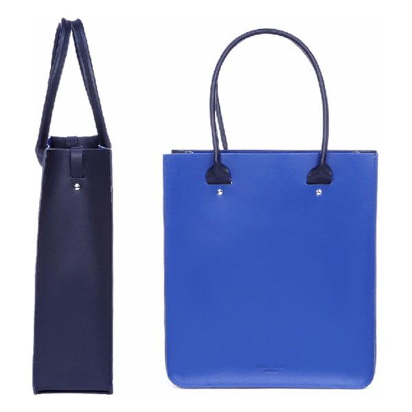 Kožená kabelka Two Tone Royal Blue/Metallic Navy