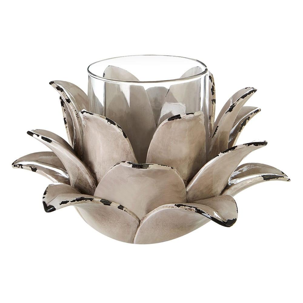 Svietnik s motívom lotosového kvetu Premier Housewares