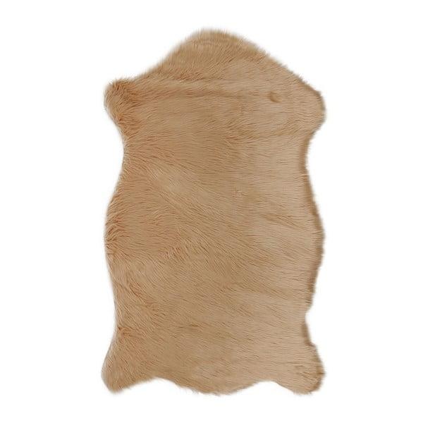 Hnedý koberec z umelej kožušiny Mirabelle, 150 x 95 cm
