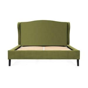 Olivovozelená posteľ z bukového dreva Vivonita Windsor, 180 × 200 cm