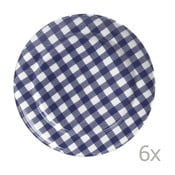 Sada 6 tanierov Livia 24 cm, modrá