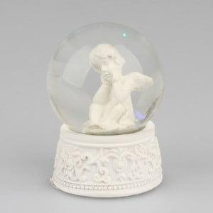 Snežná guľa so zamysleným anjelom Dakls
