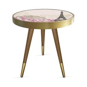 Príručný stolík Rassino Paris Circle, ⌀ 45 cm