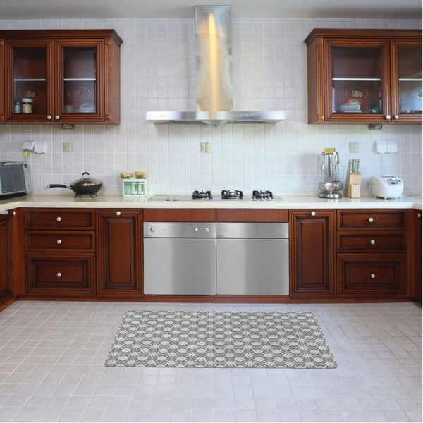 Vinylový koberec Orient Grey, 52x140 cm