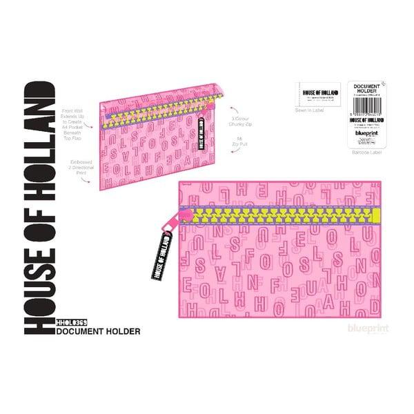 Puzdro na dokumenty Chunky Pink A4