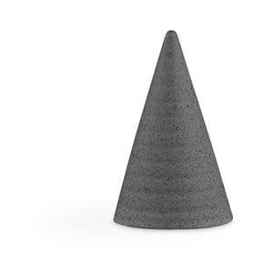Tmavosivá kameninová dekoratívna soška Kähler Design Glazed Cone Dark Grey, výška 11 cm