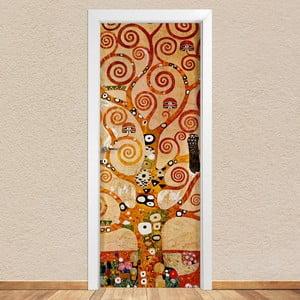 Samolepka na dvere LineArtistica Albero Klimt, 80×215 cm