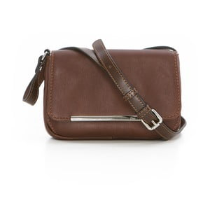 Hnedá kožená kabelka Gianni Conti Paulina