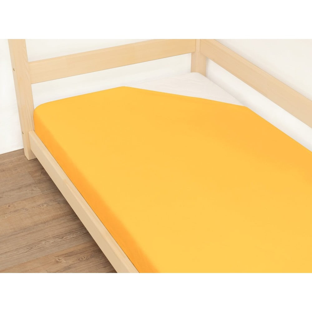 Oranžová plachta z bavlny Benli Jersey, 90 x 200 cm