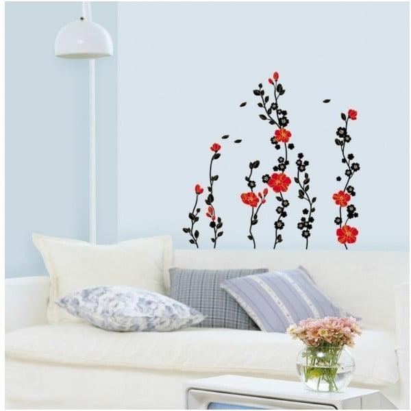 Samolepka Fanastick Red Tree and Flowers