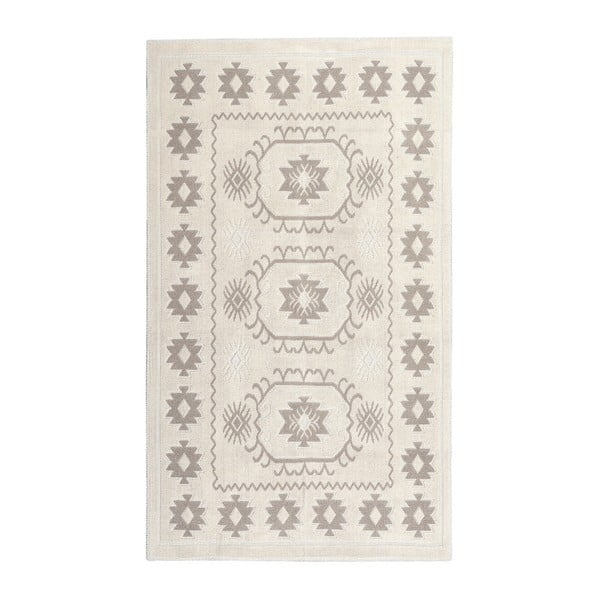 Krémový bavlnený koberec Floorist Emily,60×90cm