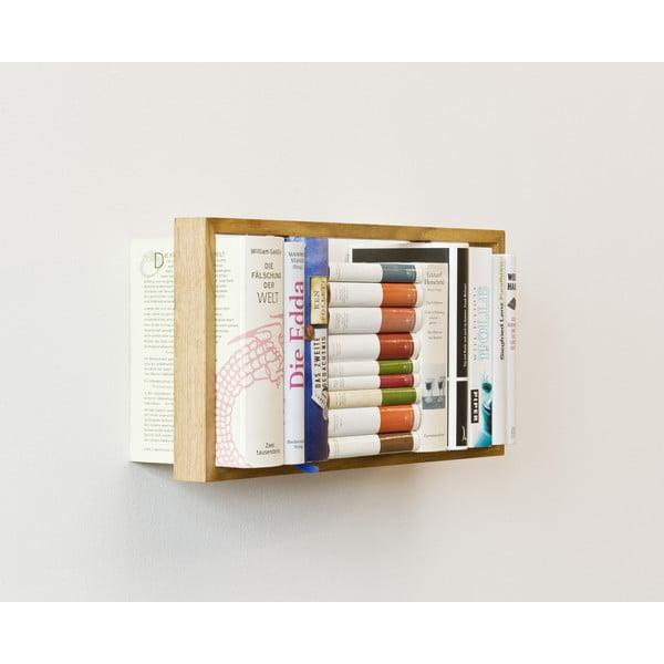 Polica na knihy z dubového dreva das kleine b b5, výška 25cm