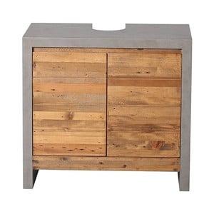 Sivá skrinka pod umývadlo z borovicového dreva Woodking Stonewall