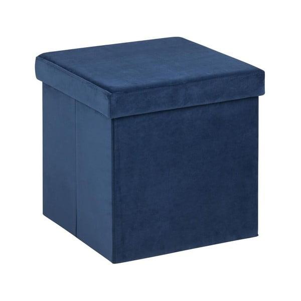 Modrá taburetka s úložným priestorom Actona Sada