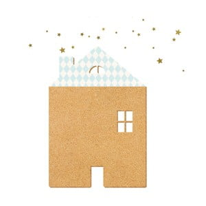 Dekoratívne samolepiace nástenka Dekornik Blue House With Stars