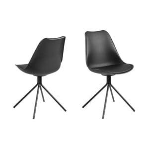 Čierna jedálenská stolička Actona Dima