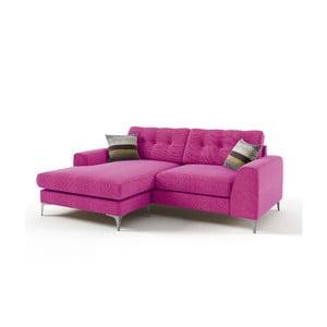 Rohová sedačka Ebony, ružová