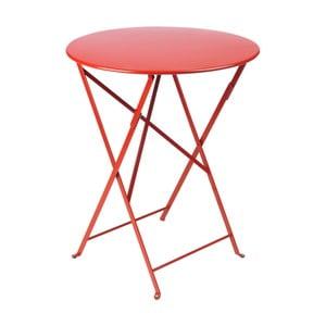Červený záhradný stolík Fermob Bistro, Ø60 cm