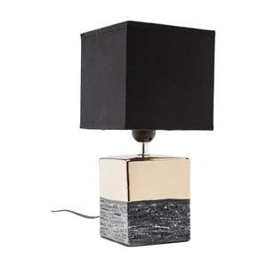 Stolová lampa v zlatej farbe s čiernym tienidlom Kare Design Creation