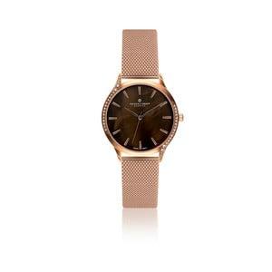 Dámske hodinky s bielym remienkom z pravej kože Frederic Graff Lychee
