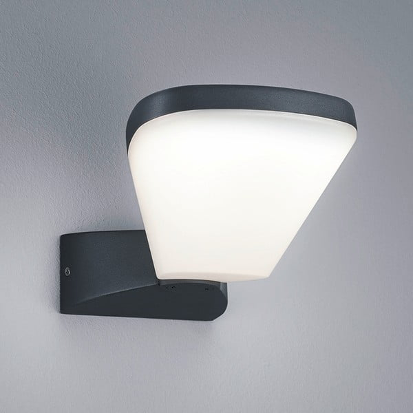 Záhradné nástenné svetlo Volturno Antracit, 13 cm