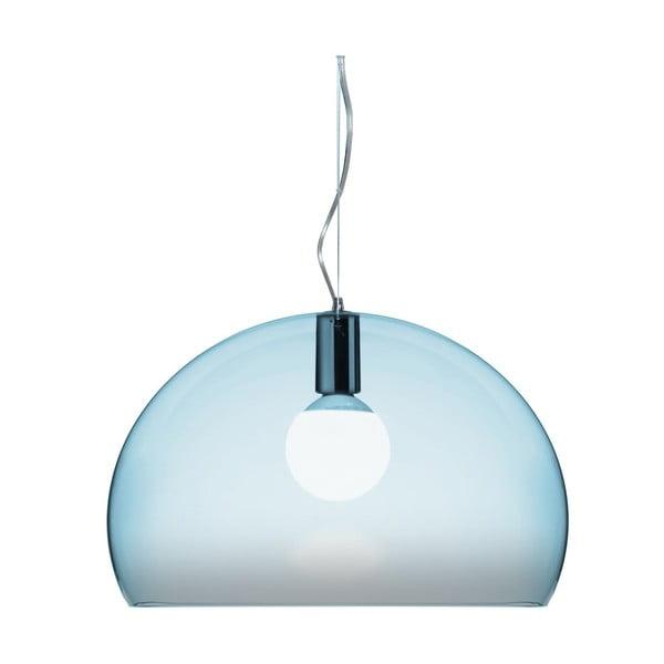 Svetlomodré stropné svietidlo Kartell Fly