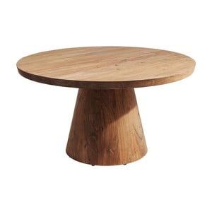 Odkladací stolík s nastaviteľnou doskou z akáciového dreva Kare Design Tornillo