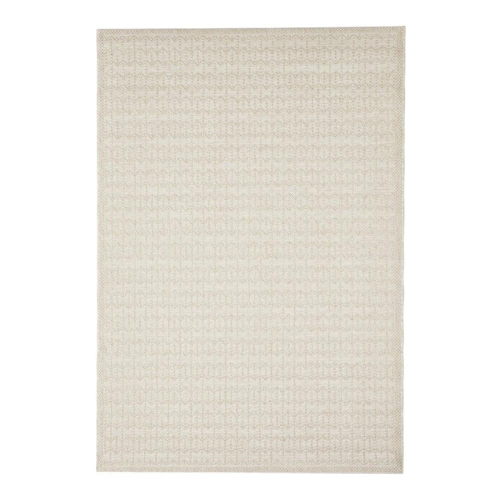 Béžový vonkajší koberec Floorita Stuoia Ecru, 130 × 190 cm