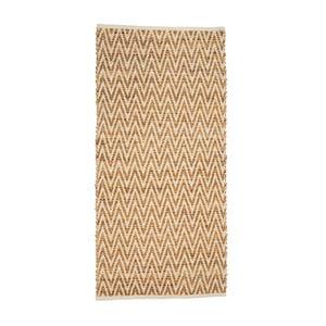 Béžový koberec z juty a kože Simla, 140 × 70 cm