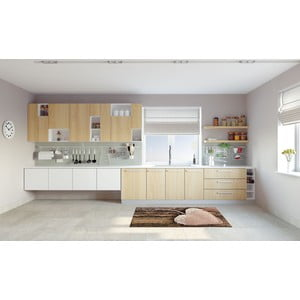 Vysokoodolný kuchynský koberec Webtappeti Coure, 60×115 cm
